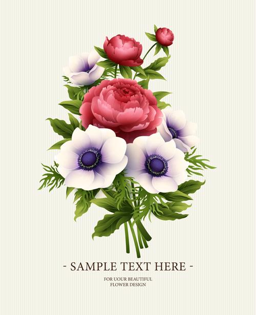 Flower Design Vintage Invitations Card Vector 03 Free Download