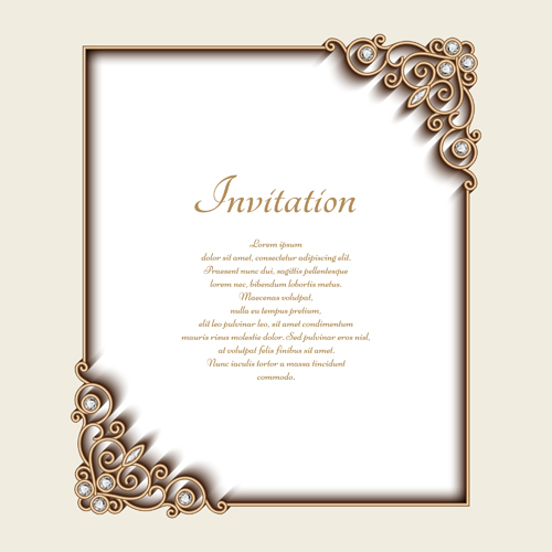 wedding invitation frame templates inspiring