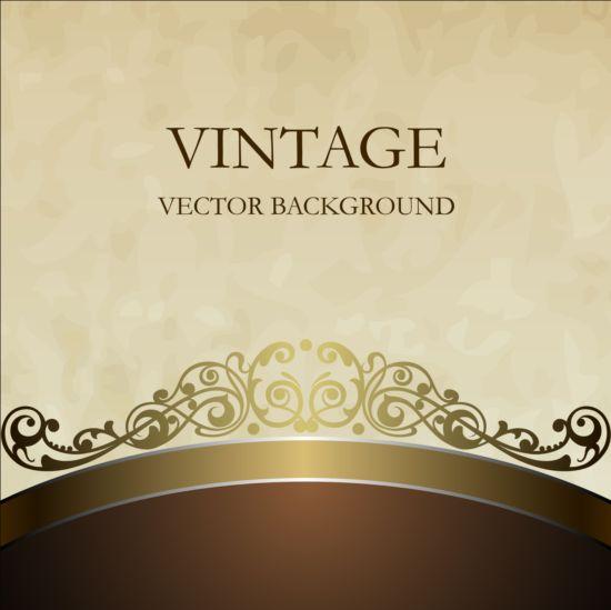 Brown With Beige Vintage Background Vector Vector
