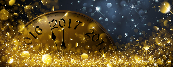 2017 clock with golden halation vector new year background free download 2017 clock with golden halation vector new year background
