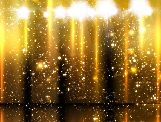 Spotlight With Golden Glow Background Vector Vector