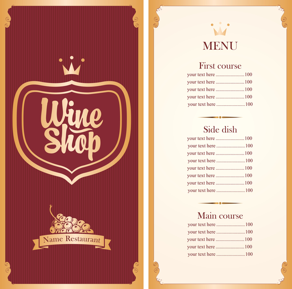 Doc13001390 free wine list template wine list template vector free wine list template example wine bar menu templates free wine list template pronofoot35fo Gallery