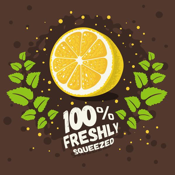 Lemonade Juice Poster Template Vector 02 Free Download
