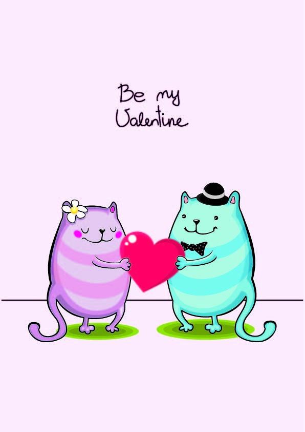 Download Cartoon animal love vector free download