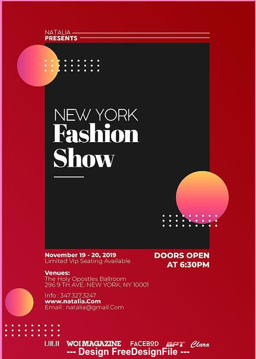 fashion show psd poster and flyer