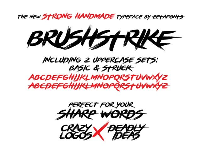brushstrike-free-font
