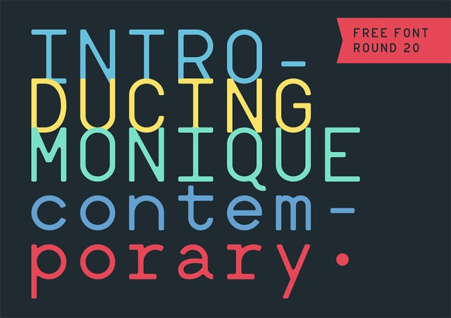 monique-contemporary-free-font