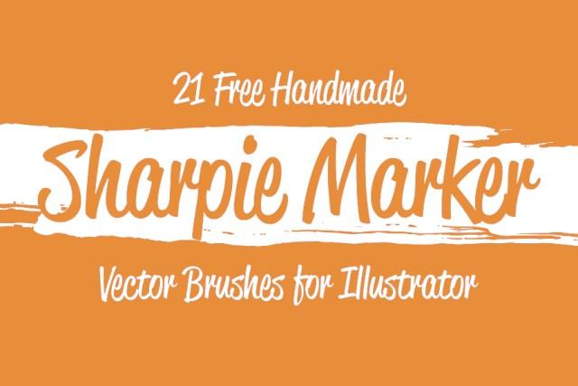 Free Sharpie Marker Vector Brushes