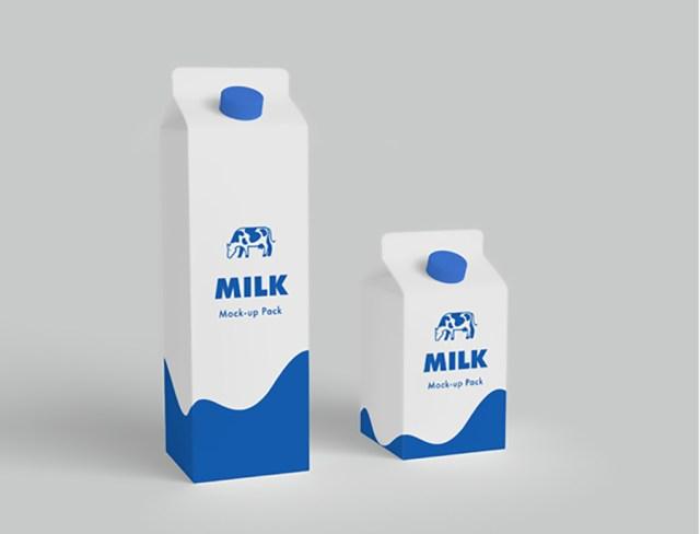 Milk Carton Mockup Free