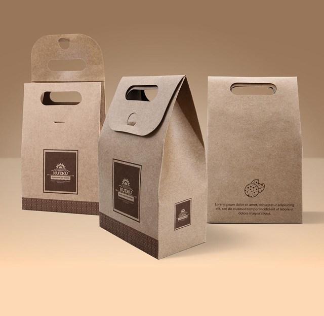 kraft paper bag mockup free design resources