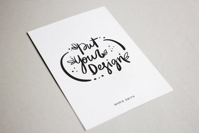 Free Postcard Mockup Free Design Resources