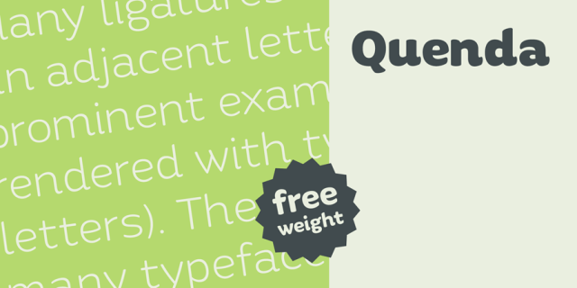 Quenda Typeface - Free Demo