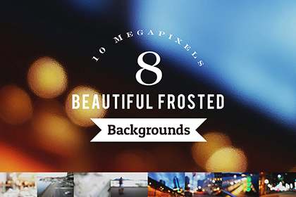 8 Beautiful Frosted Backgrounds