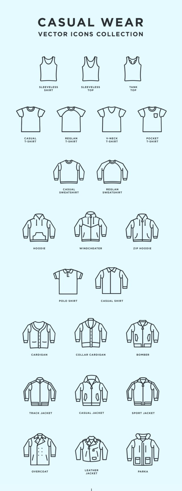 Casual Wear - Free Vector Icons Collection