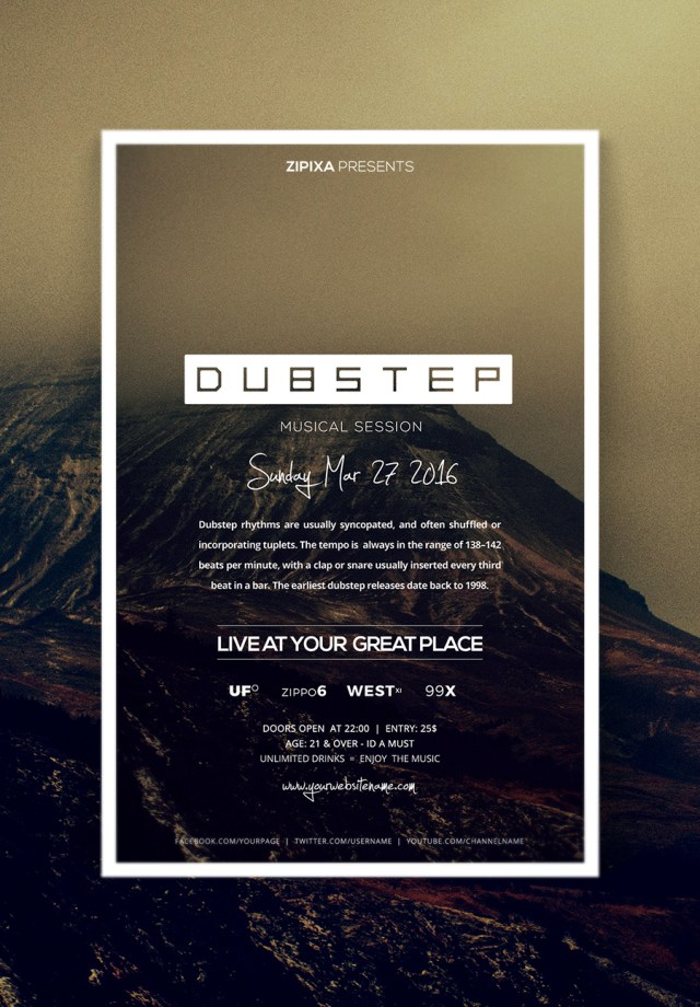 Dubstep Party Flyer