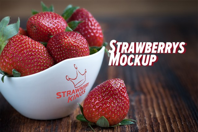 Strawberry's Bowl Mockup
