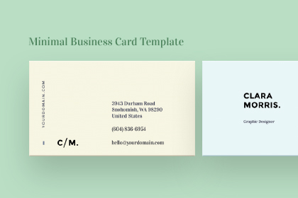 minimal business card template free design resources - Minimal Business Card