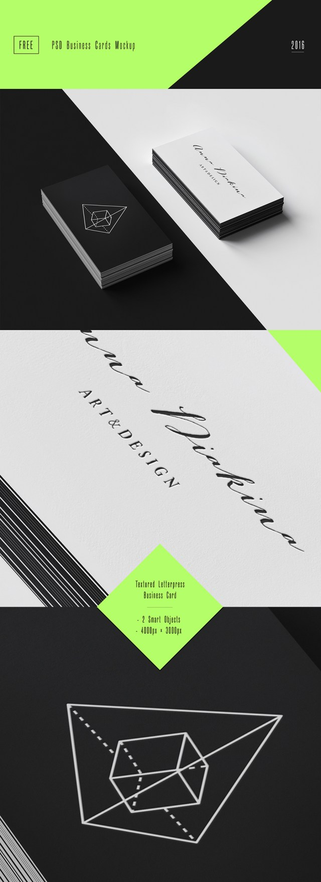 Business Cards PSD Mockup