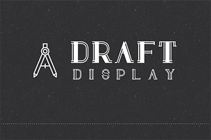 Draft Display Font