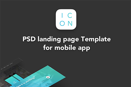 ICON - PSD Landing Page