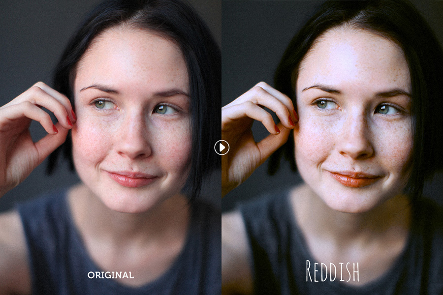 Reddish Lite Photoshop Action – Free Design Resources