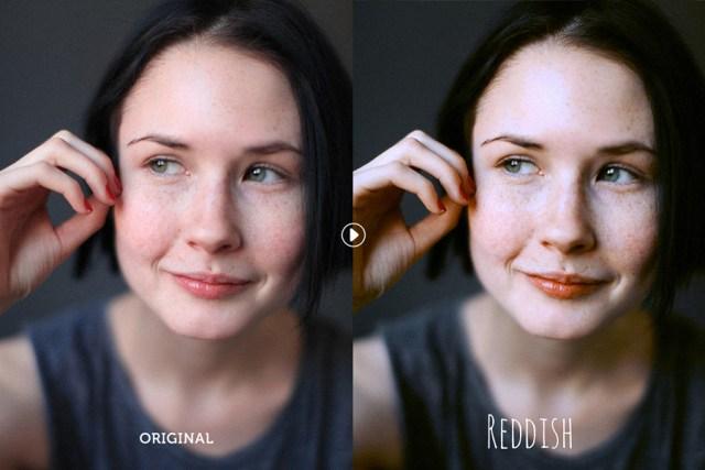 Reddish Lite Photoshop Action
