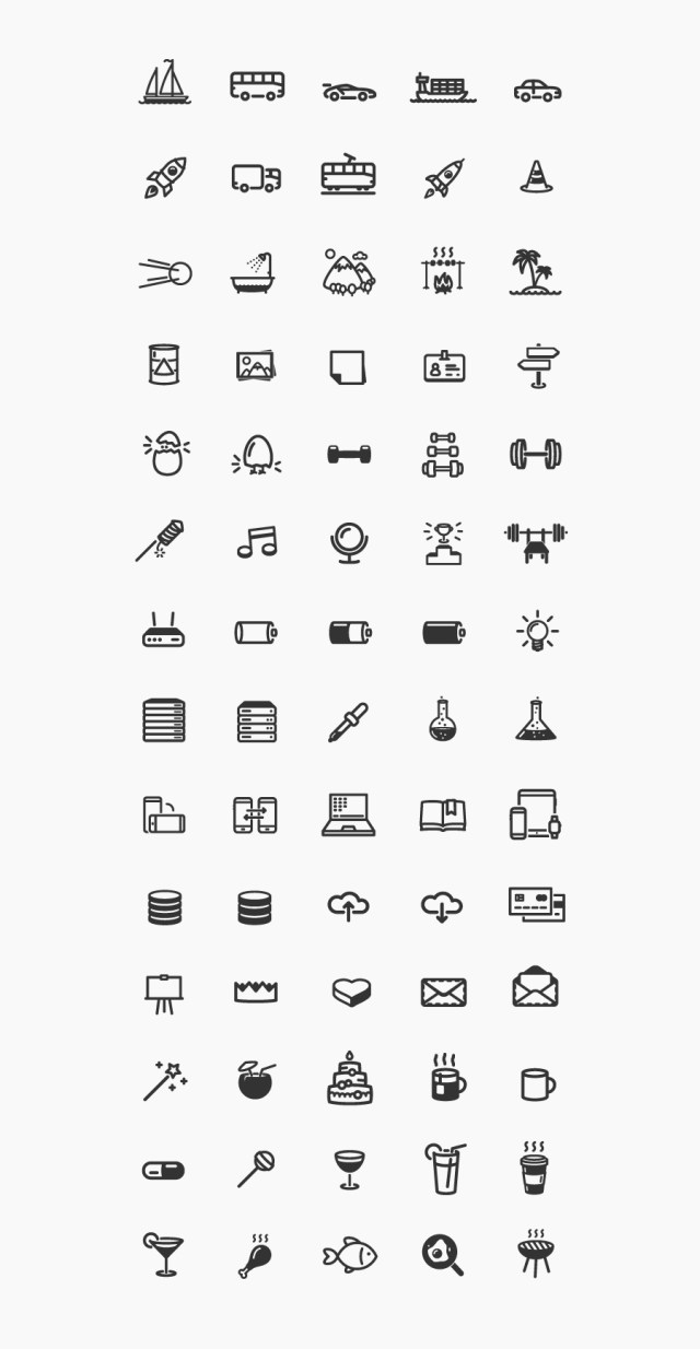 Smart & Modern Outline Icons
