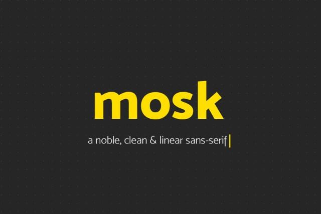 Free - Mosk Typeface