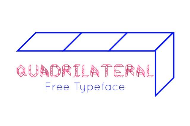 Quadrilateral - Free Font