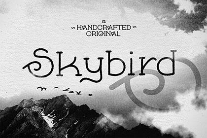 Skybird Rough - Free Font