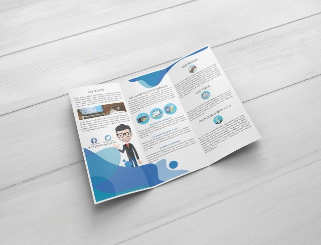 free trifold brochure mockup free design resources