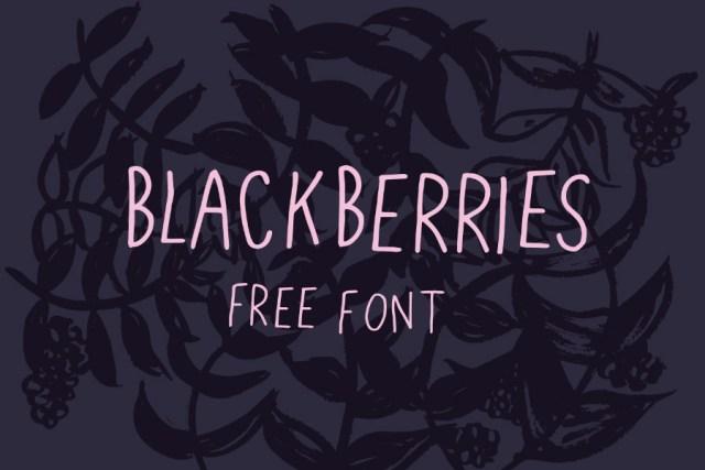 Blackberries Free Font