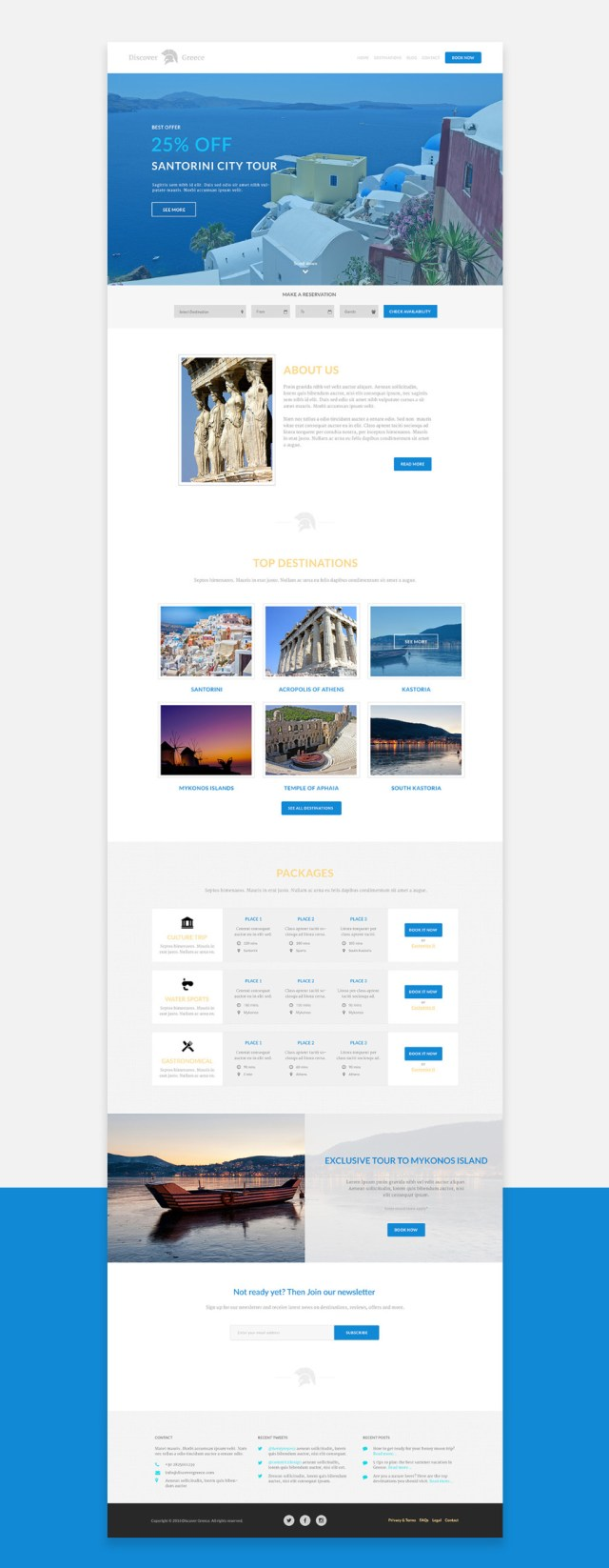 Discover Greece PSD Template