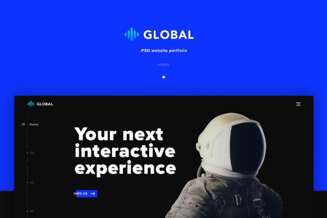 Global Free PSD Template