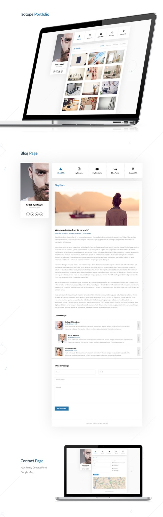Personal Resume & CV - Free PSD