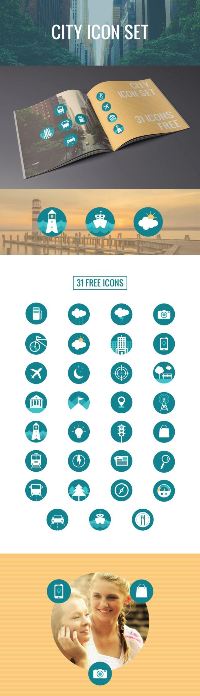 31 Free City Icon