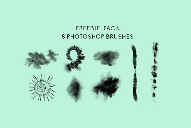 8 Tiedye Free Photoshop Brush