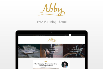 ABBY Free PSD Blog Theme
