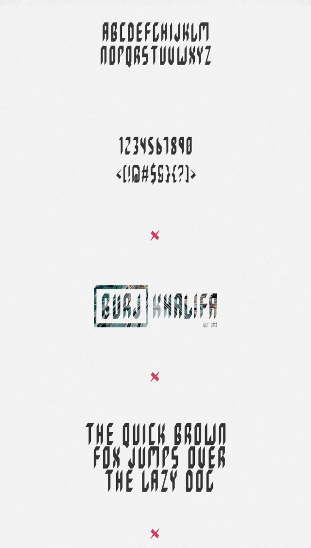 Dubai Typeface Free Demo