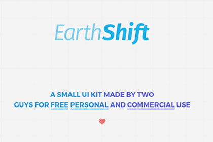 EarthShift UI Kit Free PSD