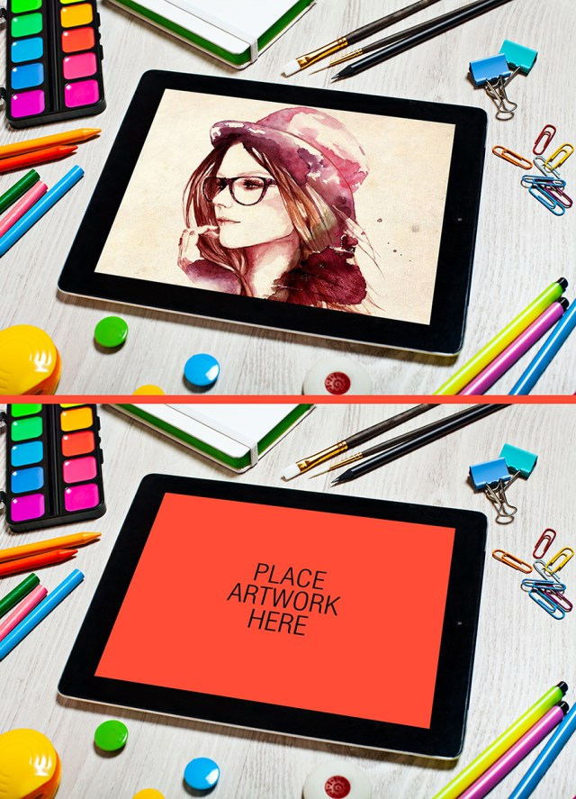 Free Artist Tablet Mockup