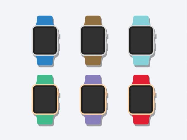 Free Flat 2D Apple Watch Mockup prev01