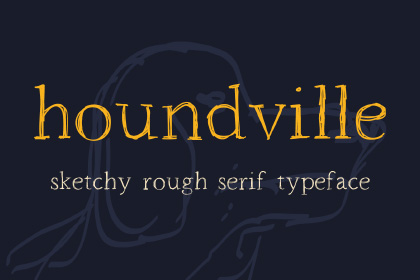 Houndville Free Handwriting Font
