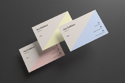 Modern Stylish Business Card Mockup