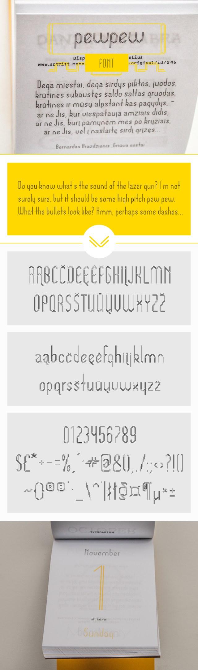 Pewpew Free Display Font