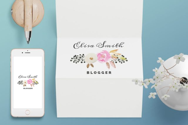 3 Watercolor Floral Free Logo