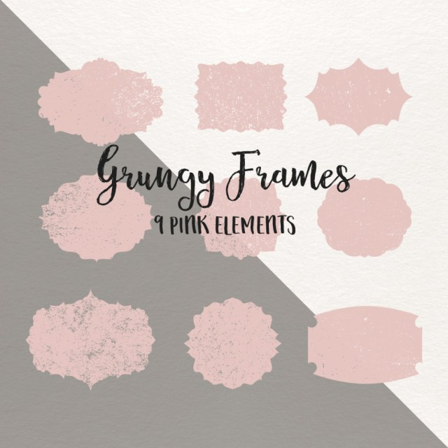 9 Free Pink Grungy Frames