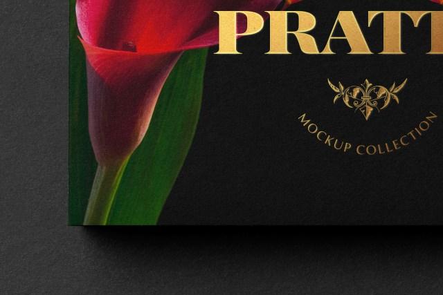 Black Business Card Free PSD Mockup