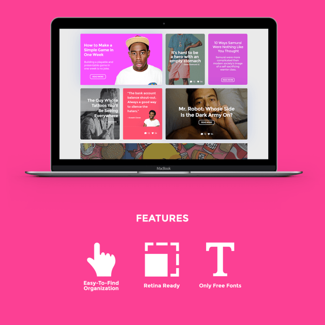 Bubble Gum Free UI Kit