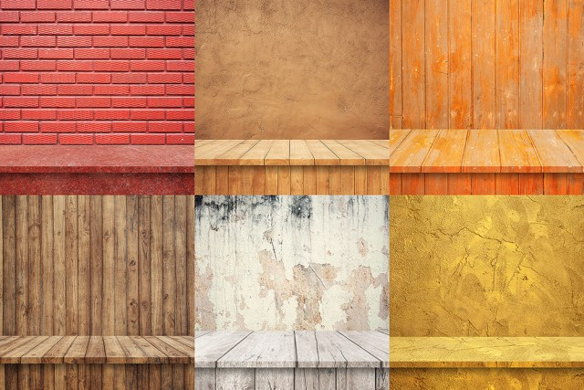 Free 6 Realistic Shelves Background Vol.2